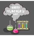 Happy Teachers Day Chemistry vector image