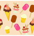 Ice cream seamless vector image