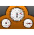 leather car dashboard vector image
