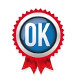 OK badge blue vector image