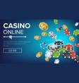 online casino poster poker gambling casino vector image