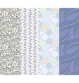 Seamless pattern 4 designs in one set vector image