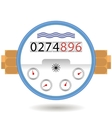 Water Meter Icon Devise for Measuring Cosumption vector image