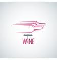 wine bottle corkscrew background vector image