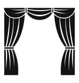Curtain on stage icon simple style vector image
