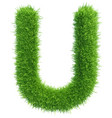 capital letter u from grass on white vector image