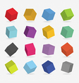 3d color boxs vector image vector image