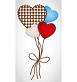 Heartshaped balloons with patterns isolated on whi vector image