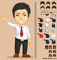 Office Worker Customizable Character vector image