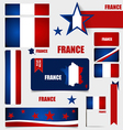 Collection of France Flags Flags concept design vector image vector image