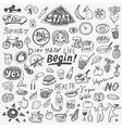diet doodles vector image