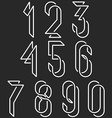 Numerical symbols line monogram numbers mockup vector image
