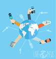 Journalism concept in flat style vector image