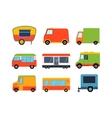 Food truck trailers set vector image