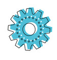 gear machinery silhouette in watercolor silhouette vector image