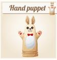 Hand Puppet Rabbit Cartoon vector image