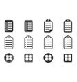 Menu icon set vector image