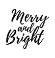 merry christmas card with calligraphy vector image