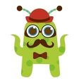 monster cartoon hipster style isolated icon design vector image