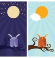 origami isolated animal Cute Owl vector image