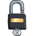 padlock with key vector image