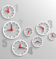 Paper Watch dials 3d graphic technology background vector image