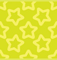 seamless yellow pattern with stars vector image