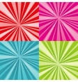 Sunburst rays comic pop art backgrounds set vector image