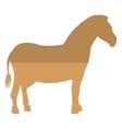zebra silhouette icon vector image