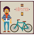Concept of hipster vector image