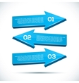 Infographic with big 3D arrows vector image vector image