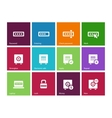 Password icons on color background vector image vector image