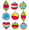 color christmas balls on white background vector image
