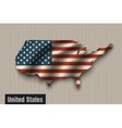 United States flag on vintage background vector image