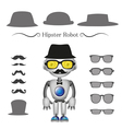 hipster robot vector image