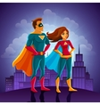 Super Heroes Couple vector image