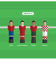 football players group D vector image