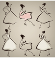 new look silhouettes vector image vector image