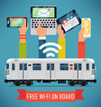 Subway Wifi Poster vector image