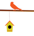 bird with its house vector image
