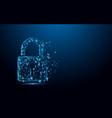 cyber security concept lock symbol vector image