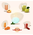 Juices fruit set vector image