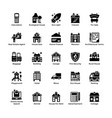 real estate glyph icons 6 vector image