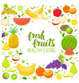 round frame with fruits vector image