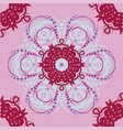 seamless abstract floral patternmandala vector image