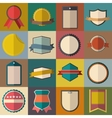 Vintage badges set vector image