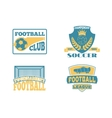 Soccer sign set vector image