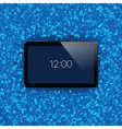 Digital tablet with shiny sensor screen Electronic vector image