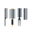 Set flat combs isolated on white background - vector image vector image