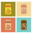 assembly flat icons coffee paper package vector image
